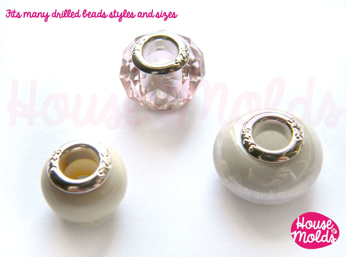 Silver Plated-stamped 925- Grommets for European style Beads ...