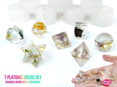 7,PLATONIC,SOLIDS,SET,Clear,Silicone,Molds,-,HOUSE,OF,MOLDS-7,Chakra,geometry,set,of,molds,for,resin,super,shiny,surface,Supplies,silicone_mold,jewelry_making,clear_resin,resin_supplies,mold_for_pendant,clear_mold,mold_for_resin,mold_for_necklace,resin_mold,resin_drop_mold,drop_mold,quartz_maker,prism_mold,clear silicone rubber,LOVE,HOUSE OF MOLDSChakra Geometry Solids,7 ch