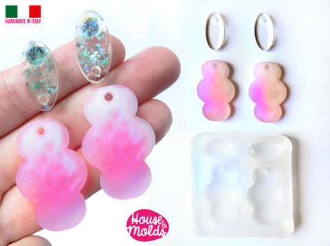 Set,of,4,Flats,2,Ovals,and,Clouds,Clear,Mold,with,Pre,Made,Holes,on,Top!,Transparent,to,make,earrings,or,pendants:,super,shiny,clouds mold_Supplies,silicone_mold,clear_mold,mold_for_resin,resin_supplies,pendant_mold,clear_mold_drop,earrings_mold,resin_drop,resin_mold,mold_maker,circle_mold,resin_jewellery_mold,Ear_plugs_mold,clear rubber,6 sizes flat circles