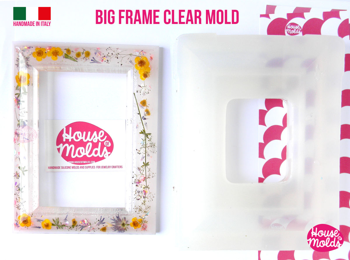 BIG Smooth Photo Frame Clear Mold - make your custom rectangular ...