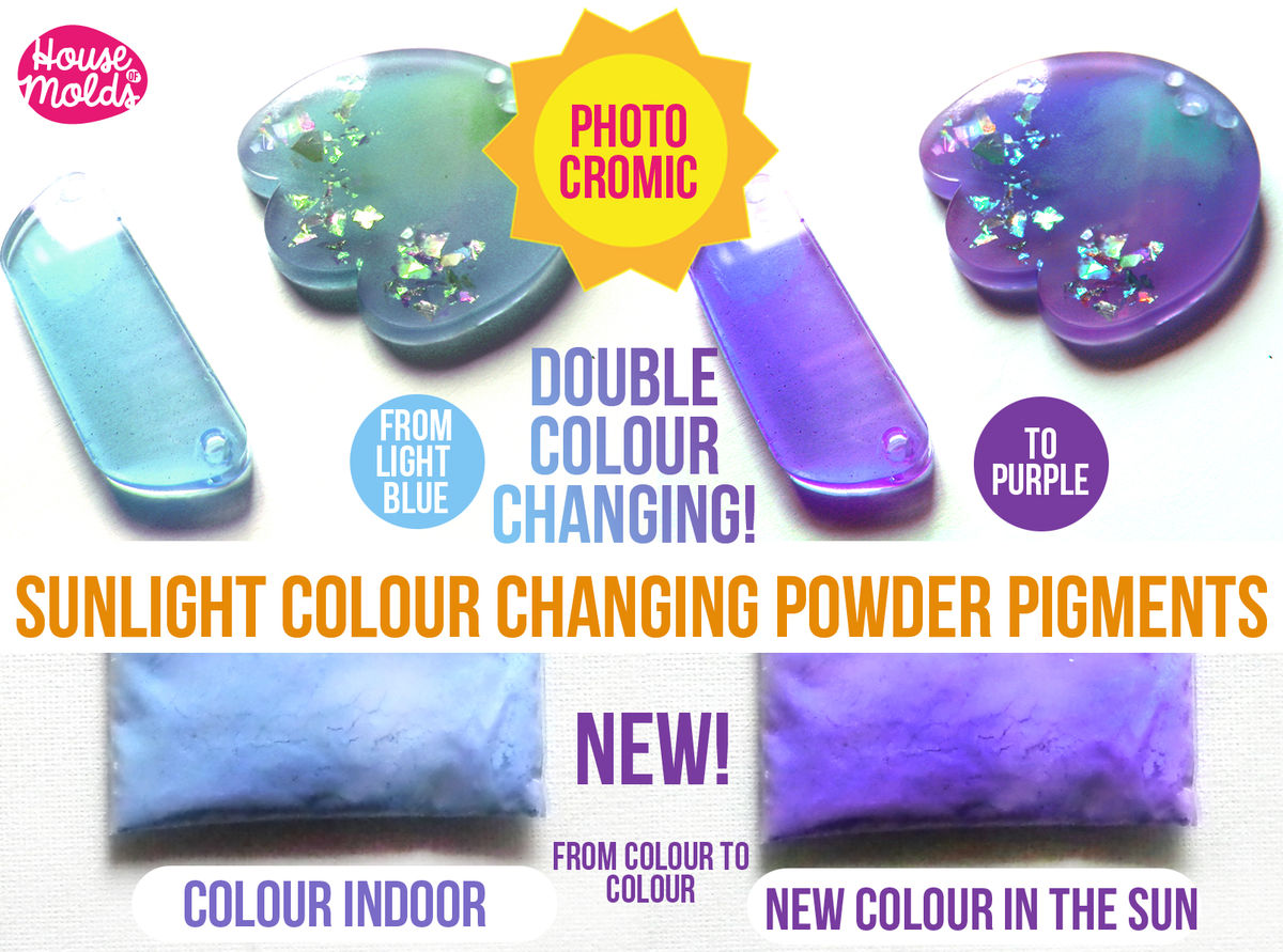 Double Colour Changing in the Sunlight Special Pigments - change from 1 colour indoor to new colour when exposed to the sunlight-Just Magic ! - product image