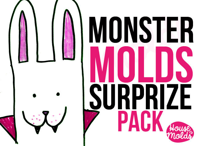 Monster Molds Mistery pack ! inside 7 molds with defected parts or used in our photoshooting Super Offer Price from houseofmolds - product image