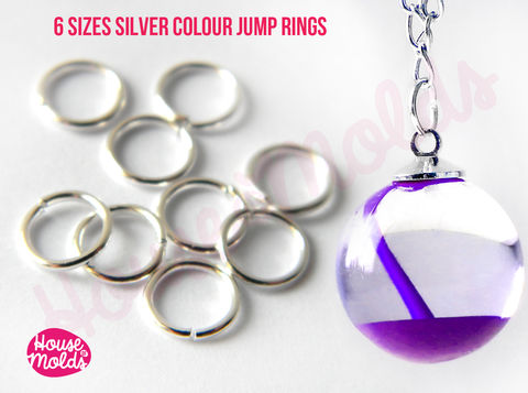 Silver,ColourJump,Rings,-very,resistant,and,quickly,link,your,pendant,with,necklace-6,sizes,available,to,choose,Silver Jump ring,Jewelry,Necklace,findings,resin_hole_bead,steel_chain,bead_supplies,resin_crafters,stainless_steel,chain,steel_necklace,pendant_chain,resin_chain,necklace_for_sphere,sphere_chain,pendant_necklace,nickel free,stainless steel