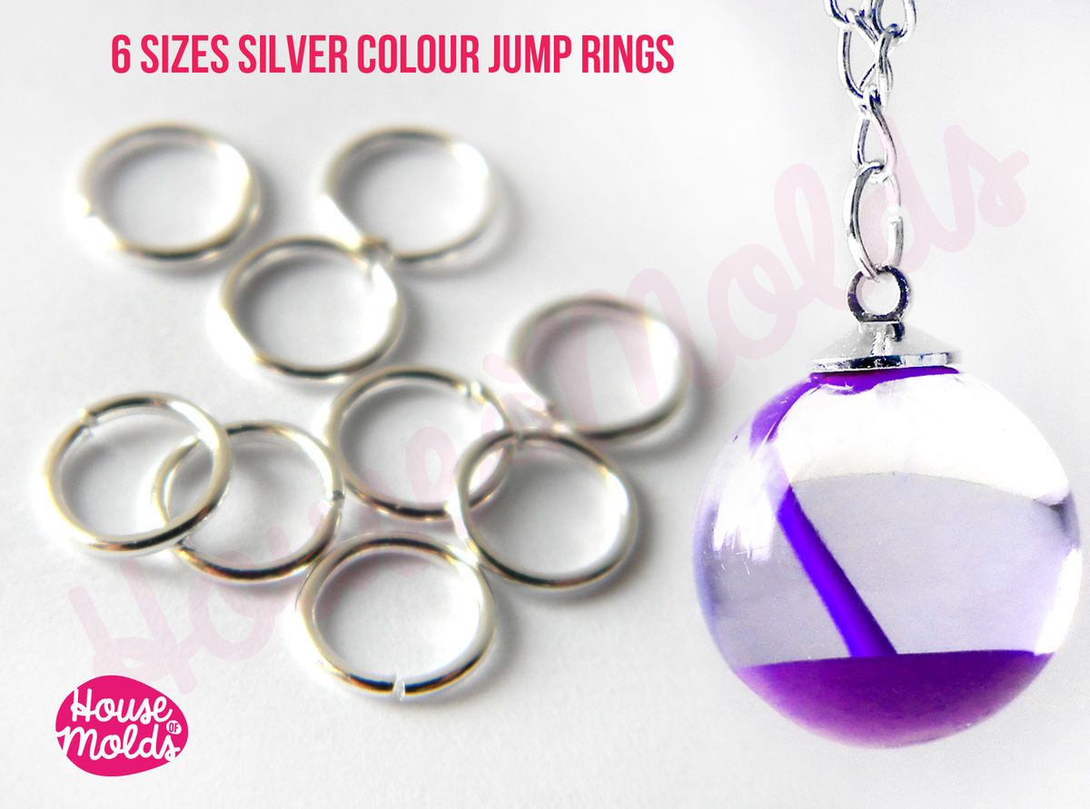 Silver ColourJump Rings -very resistant and quickly link your pendant with necklace-6 sizes available to choose - product images  of