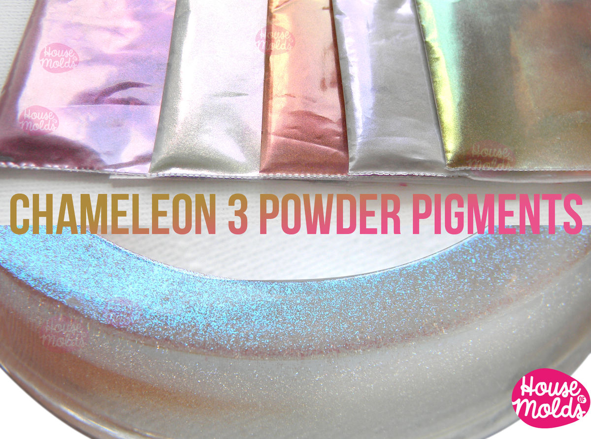 Chameleon Special Shiny Powder Pigments Set ,colour shifting Amazing fine Pigments for resin or nail art-Add some magic to your creations! - product images  of