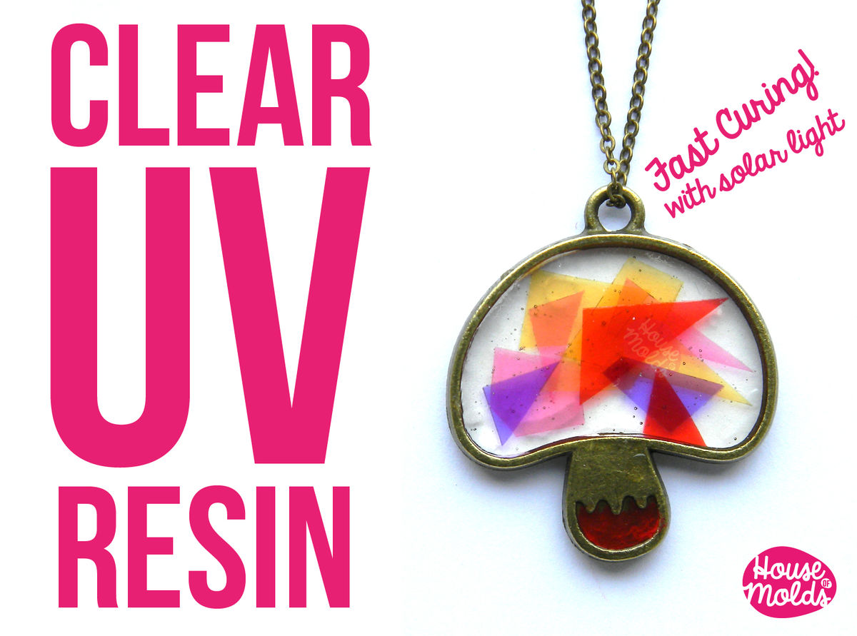 Uv Resin Kit + free gift bezels -Clear Uv hard type resin