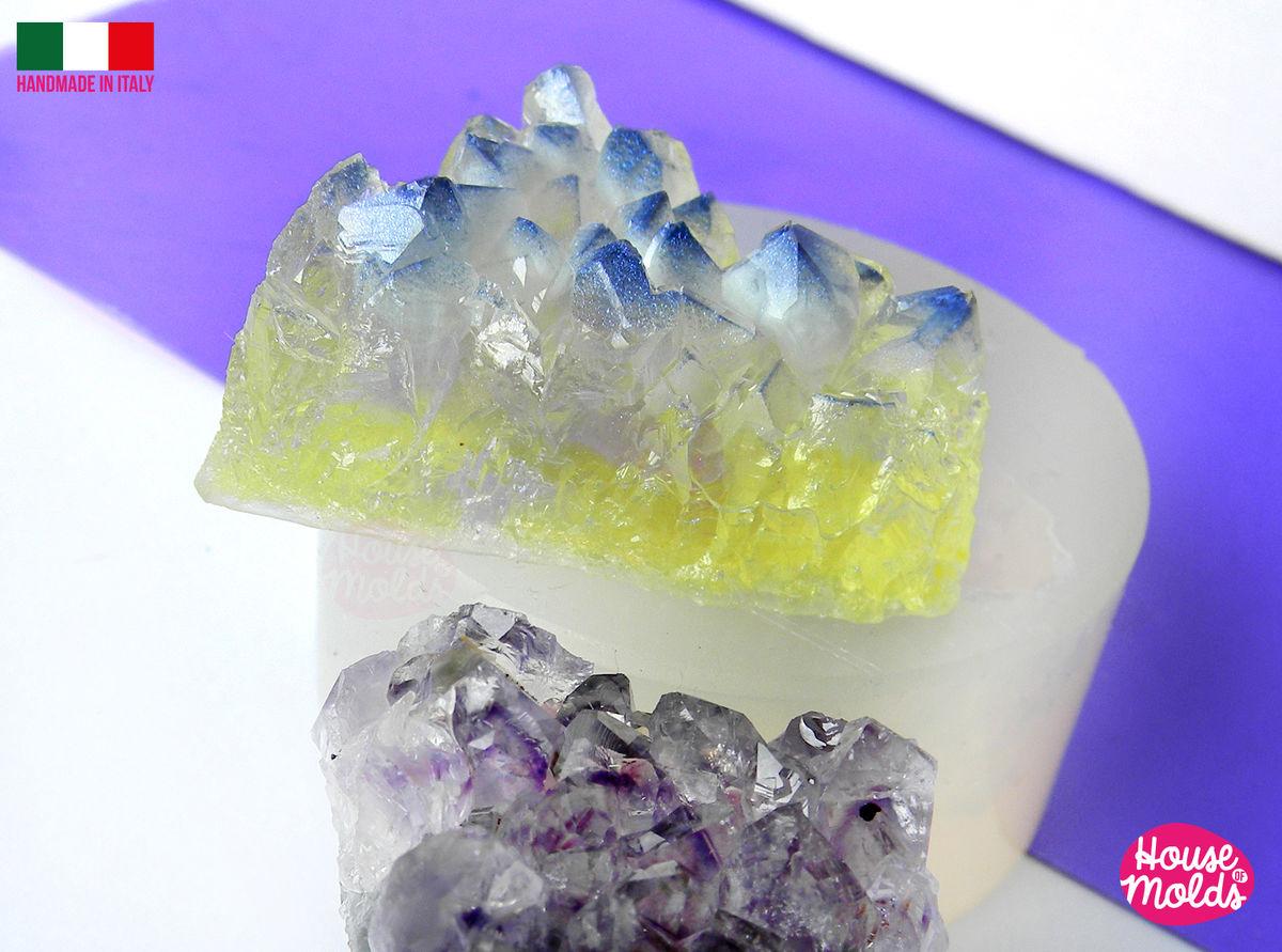 Crystal Cluster Clear mold ,triangular raw CystaL 40 mm x34