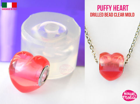 3D,Heart,Drilled,bead,Clear,Mold,,,puffy,heart,16,mm,x,13,thickness,on,center,super,shiny,Special,House,of,mold,design,drilled beads mold-heart bead, Clear Mold_bead mold_Supplies,silicone_mold,clear_mold,mold_for_resin,resin_supplies,pendant_mold,clear_mold_drop,earrings_mold,resin_drop,resin_mold,mold_maker,circle_mold,resin_jewellery_mold,Ear_plugs_mold,clear rubber,cl