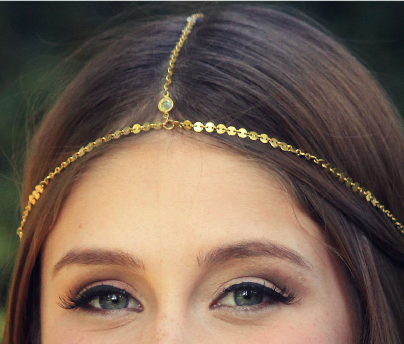 CHAIN HEADPIECE- head chain headdress chain headpiece - product images  of