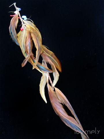 LEONA,-,Long,Single,Feather,Earring,or,extension,Accessories,Hair,feather,earring,long_earrings,feather_earring,turqouise,feather_extension,kesha,long_feather_earring,photo_prop,boutique,leather,feather_clip,single_earring,gold fill,coral,stones,amythest