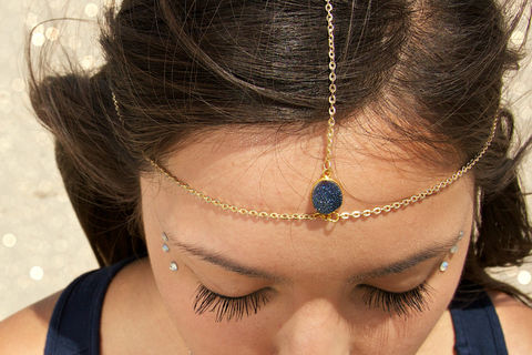 Drusy,Druzy,quartz,gold,vermeil,head,chain.,headpiece.,headdress,Accessories,Hair,Quartz,druZy,Crystal,Crystal_jewelry,sapphire,silver,head_chain,head_piece,crystal_headpiece,wedding_hair_piece,wedding