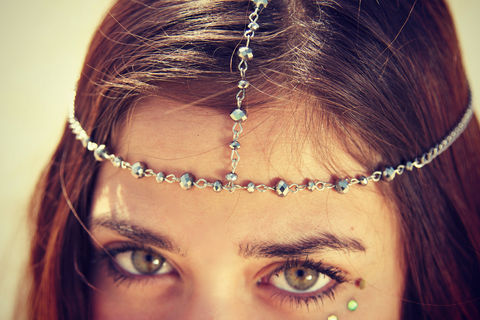 CHAIN,HEADPIECE,/HEAD,Accessories,Hair,chain,chain_headdress,hair_piece,belly_dance,chain_headband,headband,chain_head_piece,gypsy,headdress,hippie,wedding,goddess,bride_hair_piece