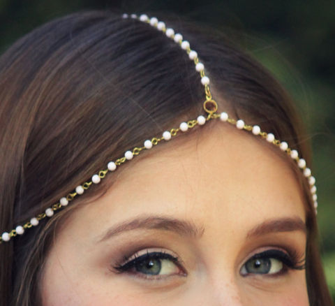 CHAIN,HEADPIECE-,chain,headdress,head,Accessories,Hair,chain_headdress,hair_piece,chain_hair,belly_dance,chain_headband,headband,chain_head_piece,gypsy,hippie,wedding,pearl,goddess