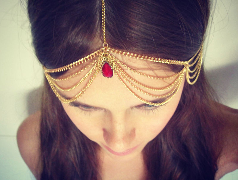 CHAIN HEADPIECE- chain headdress - product images  of