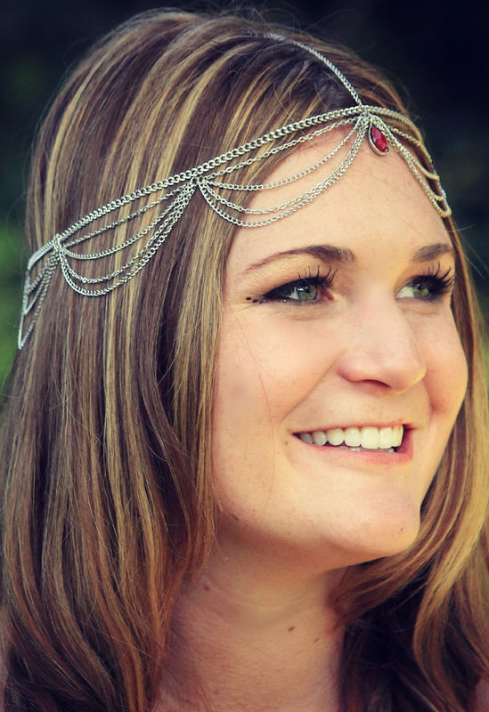CHAIN HEADPIECE- head chain/ headpiece  - product images  of