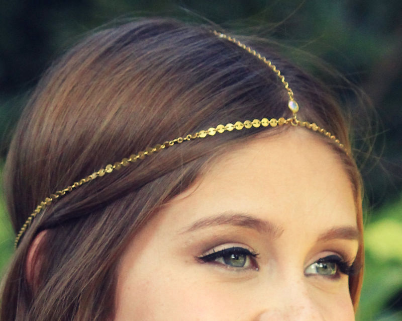 CHAIN HEADPIECE / HEAD CHAIN gypsy headpiece - product images  of
