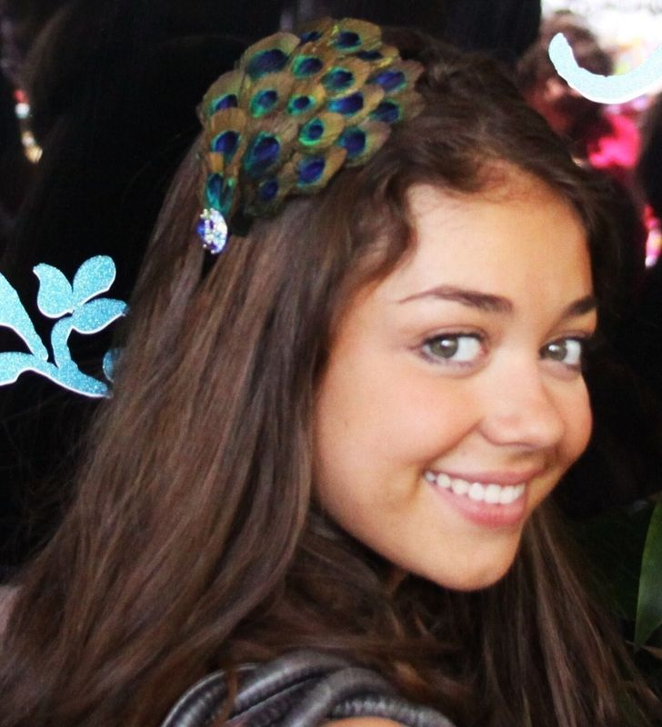 Sarah Hyland Peacock feather headband or CLip - product images  of