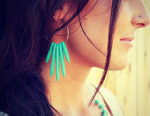 Turquoise,Spike,earrings,Jewelry,Earrings,Stone,turquoise,spike,necklace,spike_turquoise,howlite_necklace,silver_necklace,silver_jewelry,turquoise_jewelry,stone,bohemian,black_spike,spike_earrings