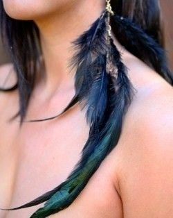 SADIE- single feather earring or Feather Extension - product images  of