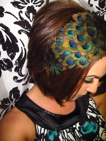 DRAKE-,PEACOCK,HEADBAND,(feathers,go,ear,to,ear),Accessories,Hair,feather,headband,peacock,hair,hat,clip,party,dance,formal,peacock_costume,hair_piece,pluma,peacock_hair_piece,peacock feather