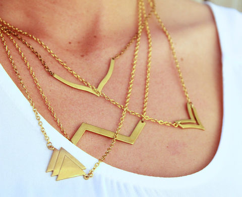 Geometric,Raw,Brass,necklaces-,choose,from,four,different,patterns,Jewelry,Necklace,Metal,brass,vintage,chain_necklace,necklace,geometric_necklace,arrow_necklace,chevron,chevron_necklace,geometric_jewelry,jewelry,wishbone,military,zig_zag