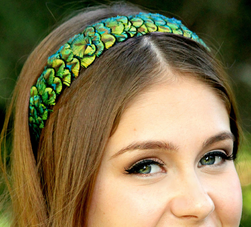 CANDACE- peacock feather headband - product images  of