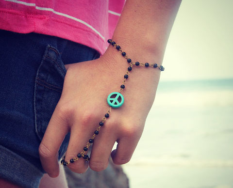 ROSARY,bead,PEACE,sign,and,turquoise,peace,or,cross,hand,jewelry.,Bracelet.,chain,Jewelry,Bracelet,bracelet,body_jewelry,hand_jewelry,gypsy,boho,ring,jewelry,belly_dance,slave_bracelet,rosary