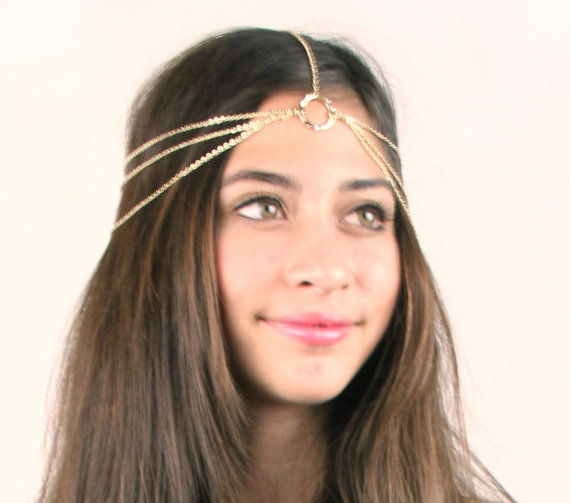 GOLD HEAD CHAIN/ HEAD PIECE - product images  of