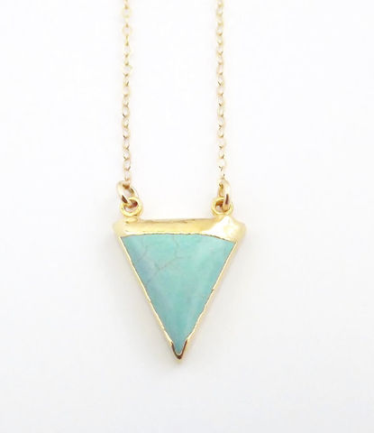 24k,gold,turquoise,trimmed,necklace,arrowhead,geometric,indian,Jewelry,Necklace,24k_gold,jewelry,turquoise_jewelry,festival_summer,turquoise_arrowhead,arrow_head,indian_jewelry