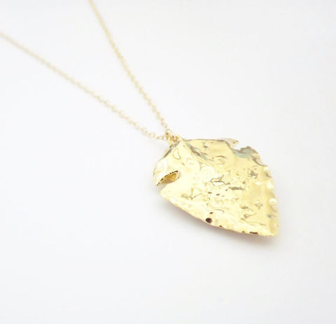 ARROWHEAD,PENDANT,Necklace,,24kt,Gold,Dipped,Pendant,,Filled,Necklace,arrowhead necklace, arrowhead,  necklace, gold
