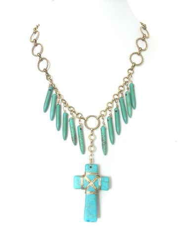 wire,wrapped,Turquoise,necklace,turquoise jewelry, jewelry, cross, religious jewelry, wire wrap