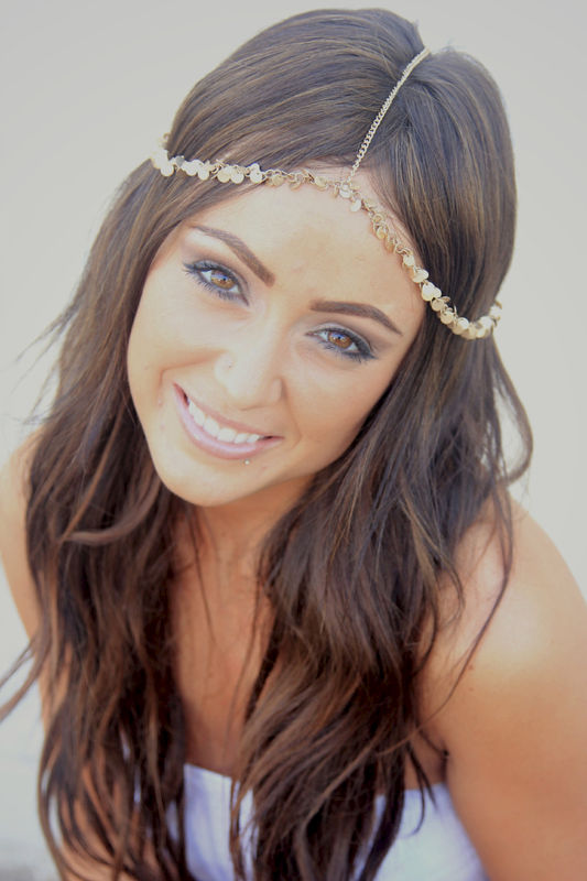 CHAIN HEADPIECE- chain headdress head chain - product images  of