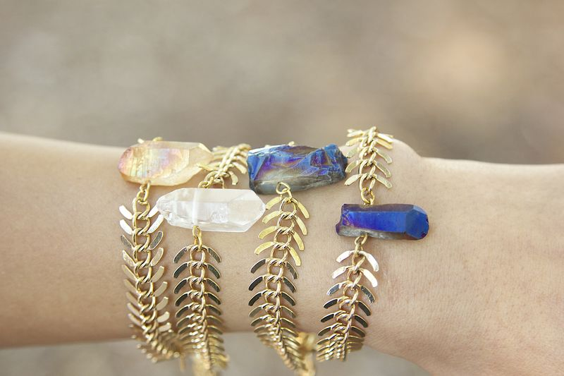 lovmely crystal quartz bracelets - product images  of