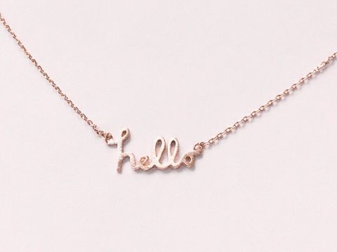 Hello,Necklace,-,rose,Gold,Filled,or,silver,Necklace,,Dainty,geometric necklace, triangle necklace, geometric jewelry, gold