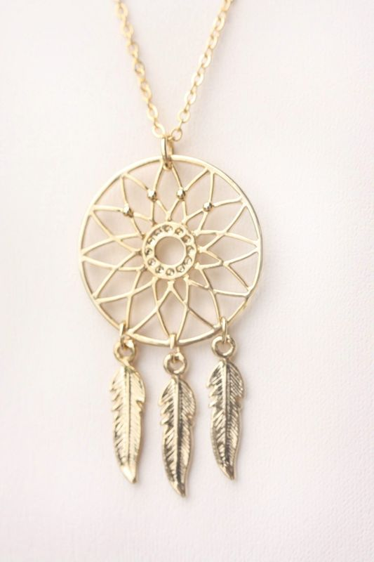 Dream Catcher and Feather necklace - product images  of