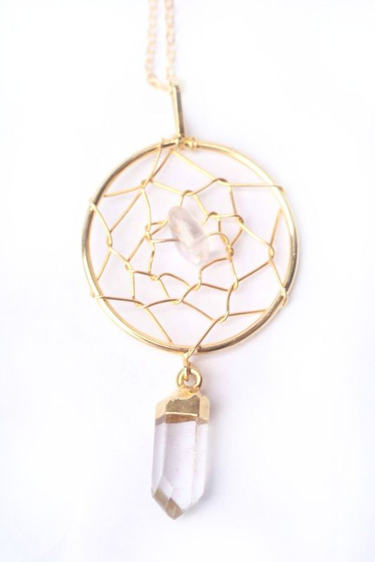 Crystal Quartz Dream Catcher necklace - product images  of