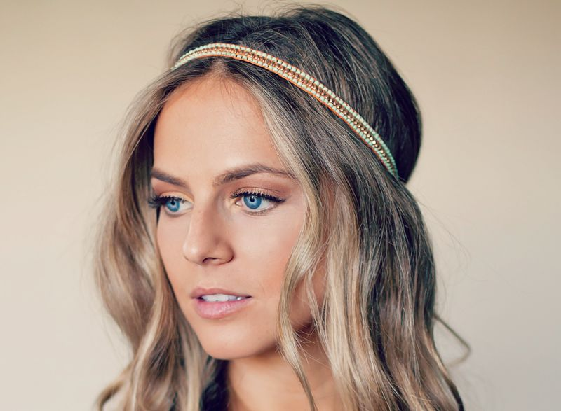 Bead Hippie Headband - 3 colors available - product images  of