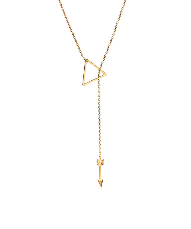 Triangle Arrow lariat necklace - product images  of