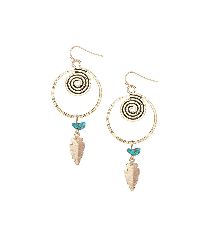 Arrowhead and Turquoise earrings - product images  of