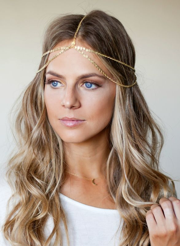 CHAIN HEADPIECE/ HEAD CHAIN double chain headpiece - product images  of