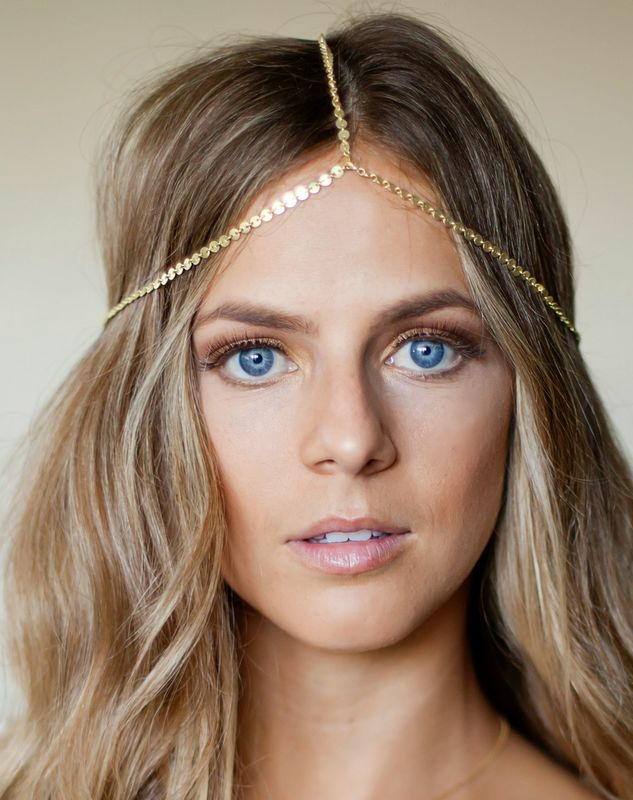 CHAIN HEADPIECE- head chain headdress  - product images