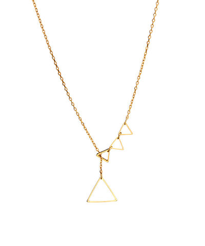 Triangle,lariat,triangle, lariat, necklace, minimalist, dainty