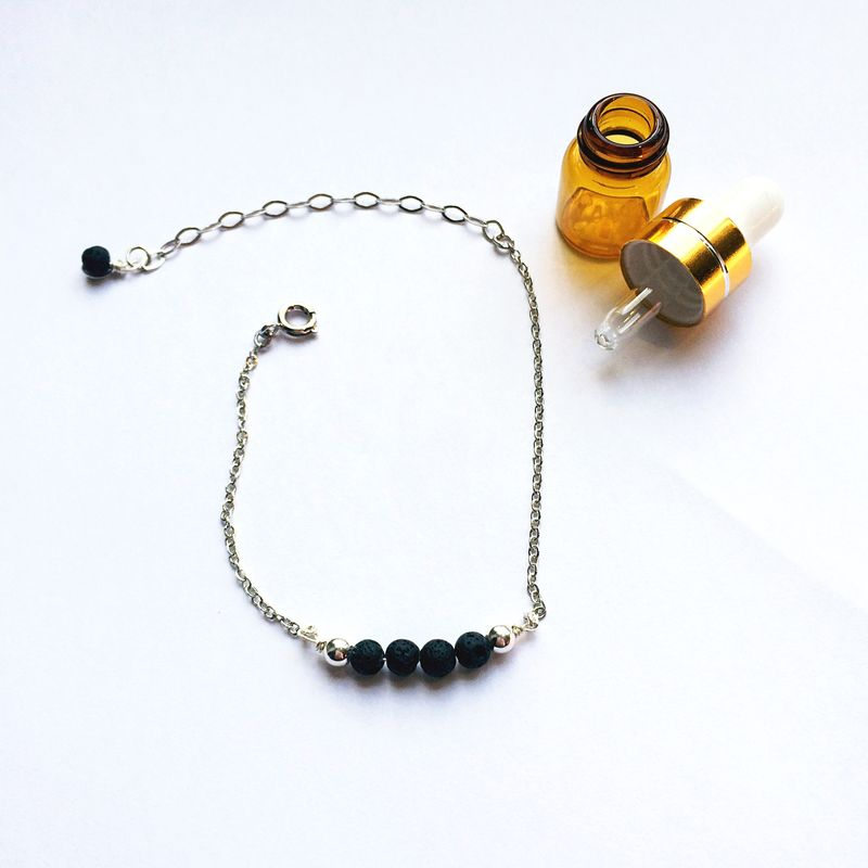 LAVA rock jewelry - Essential oil diffuser - minimalist lava bracelet - product images  of