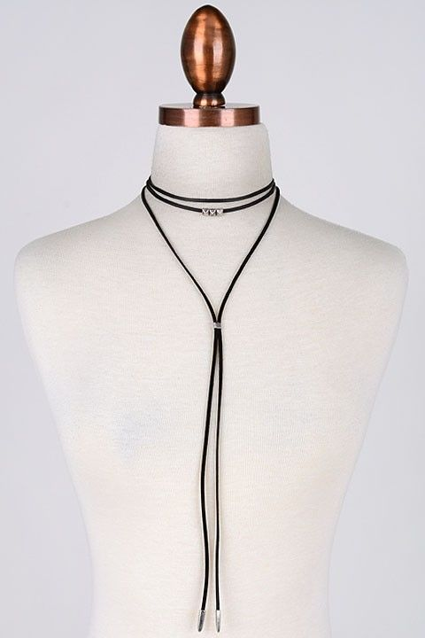 stud and leather choker wrap - product images  of
