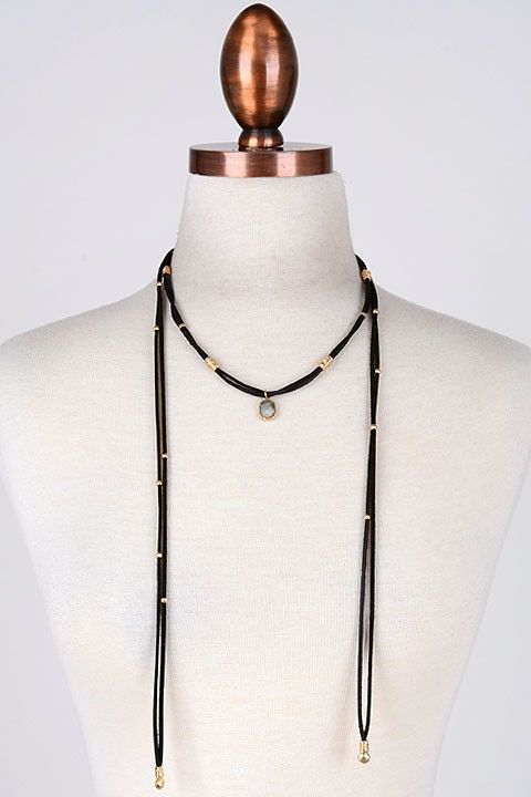 stone boho wrap choker - product images  of