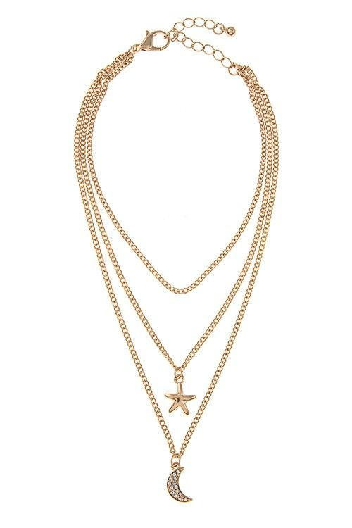 Lucky Star- triple chain anklet - product images  of