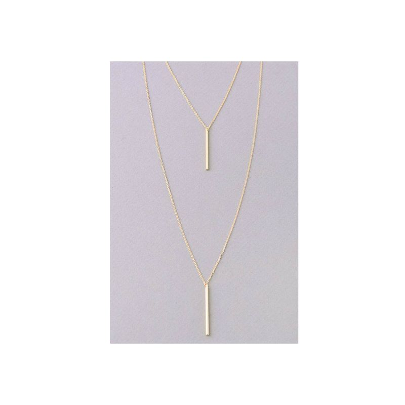 Double Bar layered chain necklace   - product images  of