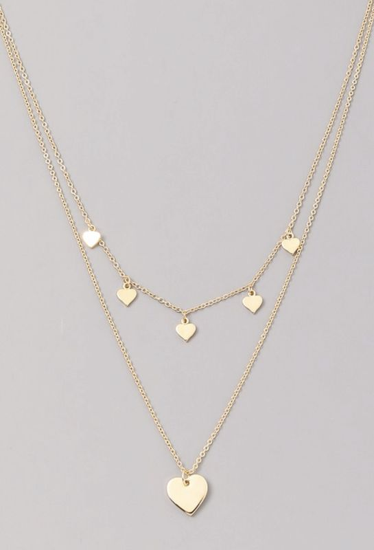Layered heart chain necklace   - product images  of