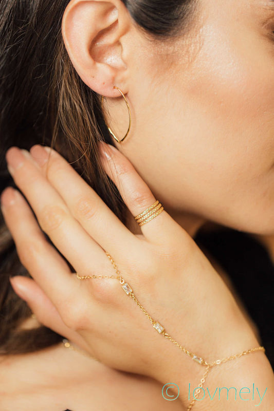 Lovmely Diamond- gold hand chain, bracelet, body jewelry - product images  of