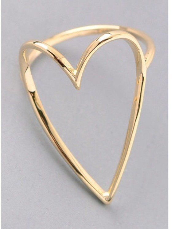 Heart ring - silver or gold - product images  of